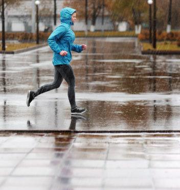Running in Rain Textile Membrane